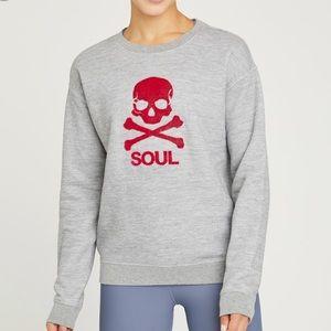 SOUL by SOULCYCLE Grey Skull Sweatshirt Sz XS
